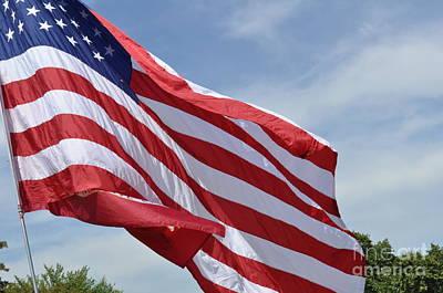 Lenora Berch Photograph - Usa Flag by Lenora Berch