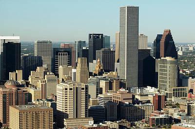 Usa, Texas, Houston, Dwontown, Aerial View Print by George Doyle