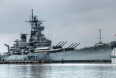 Warship Photograph - Uss New Jersey by Jennifer Ancker