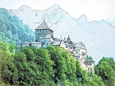 Vaduz Castle Vaduz Lichtenstein Print by Joseph Hendrix