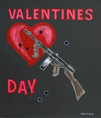 Valentines Day Print by One Rude Dawg Orcutt