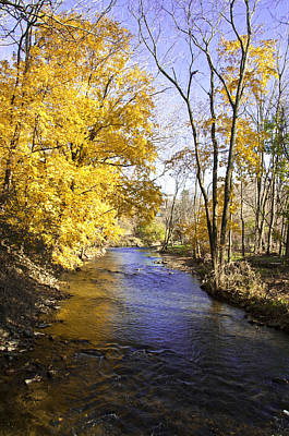Autumn Photograph - Valley Forge Creek In Autumn by Bill Cannon