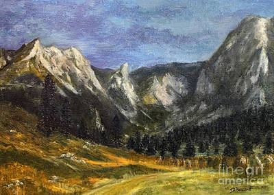 Valleys And Peaks Painting - Valley Of Little Meadow by Danuta Bennett