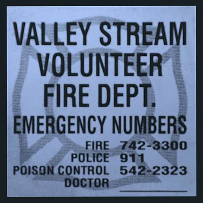 Valley Stream Fire Department In Cyan Print by Rob Hans