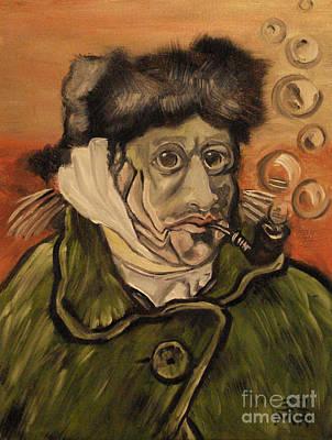 Parody Painting - Van Gogh Fish by Ellen Marcus