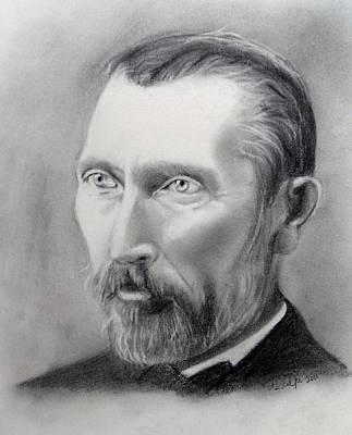 Van Gogh Pencil Portrait Print by Andrea Realpe