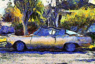 Made In The Usa Digital Art - Van Gogh.s Plymouth Barracuda In Suburbia . 7d12724 by Wingsdomain Art and Photography
