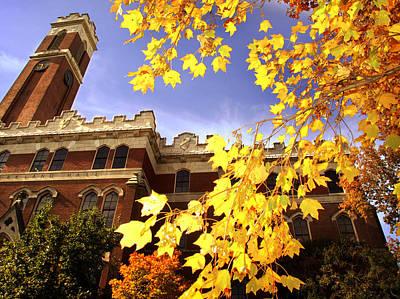 Vanderbilt Kirkland Hall In The Fall Print by Vanderbilt University