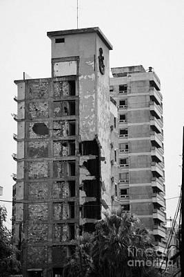 Varosha Forbidden Zone With Salaminia Tower Hotel Abandoned In 1974 Turkish Invasion Famagusta Print by Joe Fox