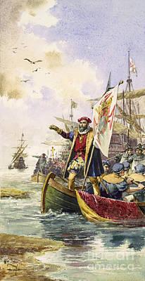 Vasco Da Gama, Portuguese Explorer Print by Photo Researchers