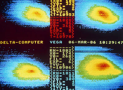 Vega Images Of Halley's Comet Print by Ria Novosti