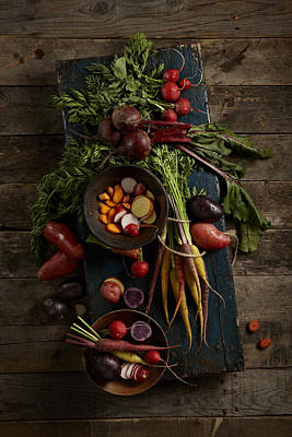 Y120817 Photograph - Vegetables by Lew Robertson
