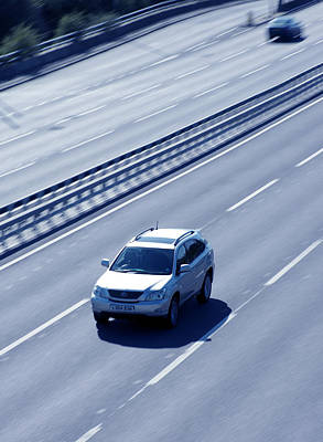 Car Carrier Photograph - Vehicle On A Motorway by Tek Image