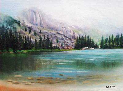 Veil Over Elk Lake Print by Patti Gordon