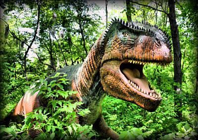 Velociraptor Print by Kristin Elmquist