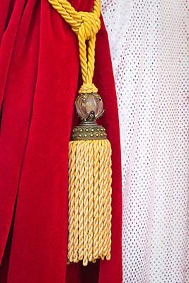 Velvet Curtain Print by Tom Gowanlock