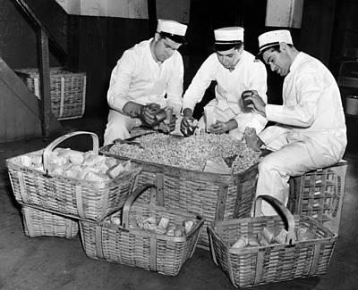 Vendors Filling Peanut Bags Print by Everett