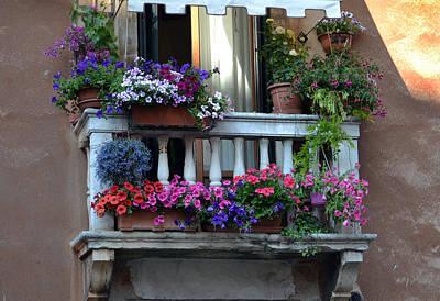 Venetian Balcony Original by Terence Davis