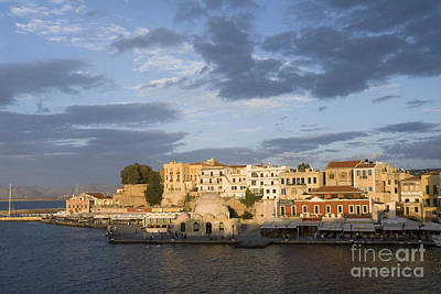 Venetian Harbor At Sunset Print by Gloria & Richard Maschmeyer