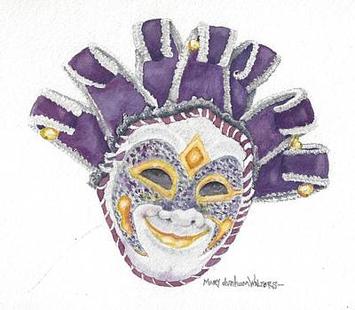 Mardi Gras Painting - Venetian Mask Vi by Mary Dunham Walters