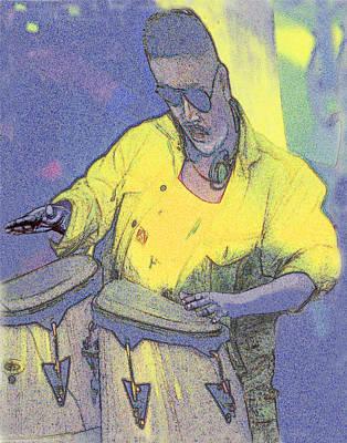 Venice Beach Drummer Original by Alice Ramirez