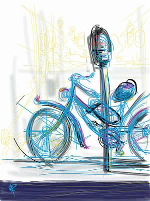 Venice Bike Print by Russell Pierce