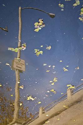 Streetlight Photograph - Venice Canals Walkway by Kevin Bergen