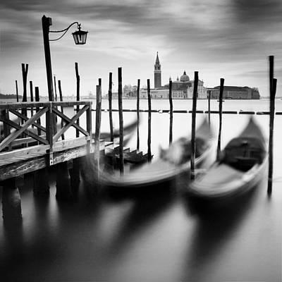 Gondola Photograph - Venice Gondolas by Nina Papiorek