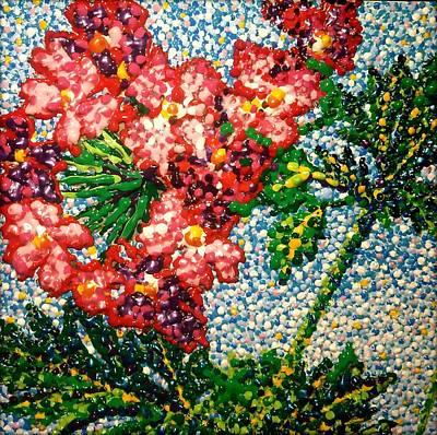 Verbena Painting - Verbena by Claudia Lardizabal