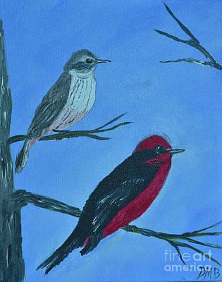 Flycatcher Painting - Vermilion Flycatcher by Donna Brown