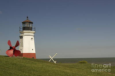 Vermilion Lighthouse - 1287 Print by Chuck Smith