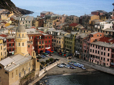 Beach Photograph - Vernazza View by Andrew Soundarajan