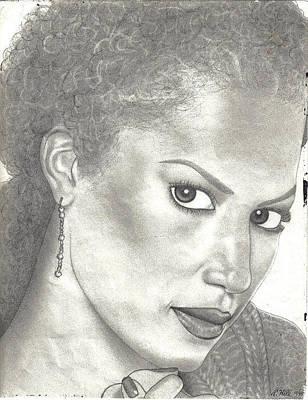 Tattoo Stencils Drawing - Veronica Webb by Rick Hill