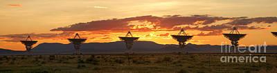 Very Large Array At Sunset Print by Matt Tilghman