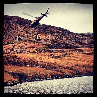 Helicopter Photograph - Very Low Flying Helicopter #helicopter by Kiko Bustamante