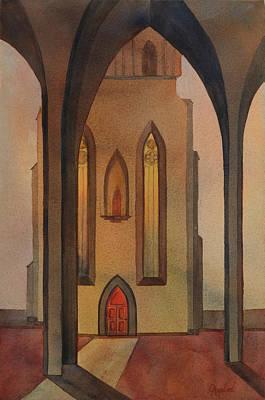 Church Pillars Painting - Vespers by Johanna Axelrod