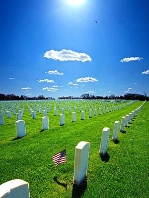 Flower Memorial Photograph - Veterans by Phil Koch