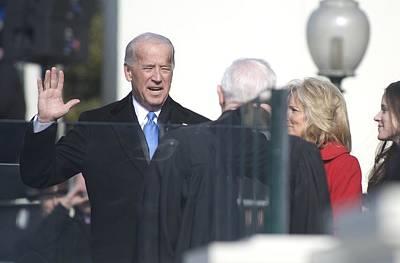 Vice President Biden Photograph - Vice President Joe Biden Takes The Oath by Everett