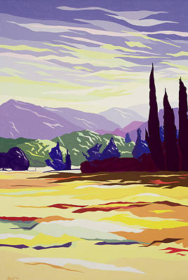 Tuscan Hills Painting - Vicopelago - Lucca by Derek Crow