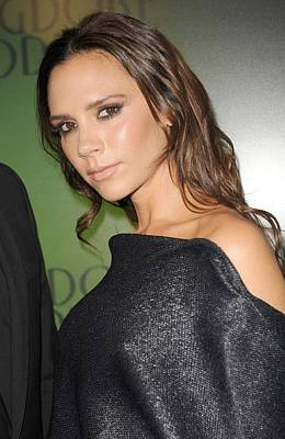 Victoria Beckham At In-store Appearance Print by Everett