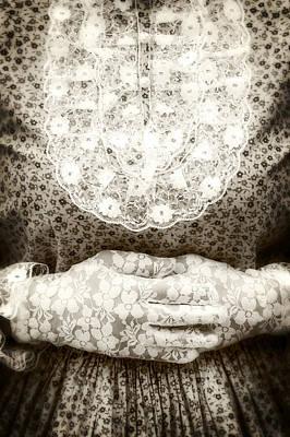 Victorian Hands Print by Joana Kruse