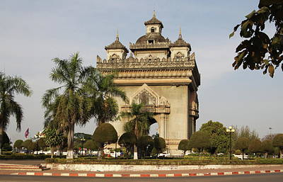 Patuxai Photograph - Victory Gate by Kelly  Butler