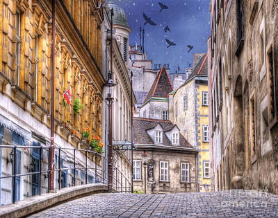 Vienna Cobblestone Alleys And Forgotten Streets Print by Juli Scalzi