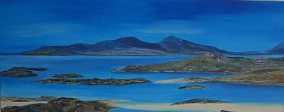 Scotland Painting - View From Sanna Beach by Margaret Denholm