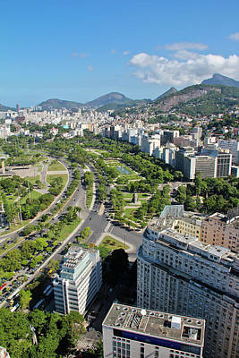 View Of Aterro Do Flamengo Print by Ruy Barbosa Pinto