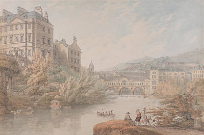 View Of Bath From Spring Gardens  Print by Thomas Hearne