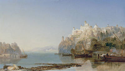 View Of Constantinople On The Bosphorus Print by James Webb