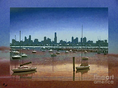 St.kilda Photograph - View Of Melbourne From St Kilda by Karen Lewis