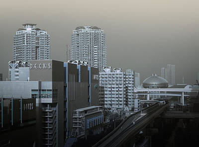 Sushi Photograph - View Of Modern Tokyo by Naxart Studio