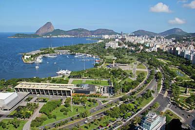 View Of Rio De Janeiro City Print by Ruy Barbosa Pinto